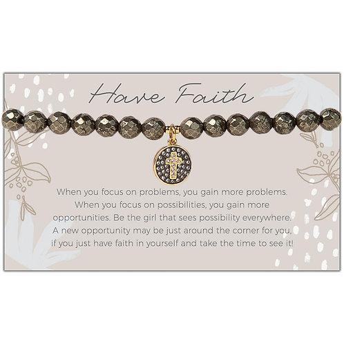 Cross Pyrite Bracelet