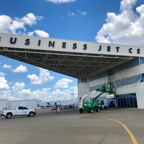 Business Jet Center Before Painting