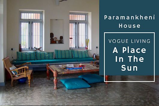The article by Megha Mahindru features Tishani Doshi and Carlo Pizzati, and their house designed by Benny Kuriakose on the Chennai Pondicherry Road by the beach side.