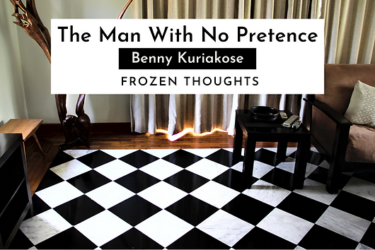 """Frozen Thoughts with Benny Kuriakose -  """"Buildings should not pretend. The temple should look like a temple, a school like a school and a house like a house."""" Upclose and Personal with Benny Kuriakose. """"His Dakshinachitra is a landmark. So many celebrities live in houses designed by him. He is the man behind the rehabilitation homes of the victims in the earthquakes of Gujarat and tsunami in Tamil Nadu. This national award-winning architect is Benny Kuriakose, primarily a wonderful human being and of course a renowned architect."""""""