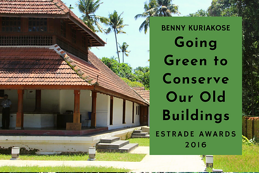 "Benny Kuriakose reveals his design philosophy while talking to Estrade, about what green design means to him. ""Best way of going green is to conserve our old buildings""  ​"