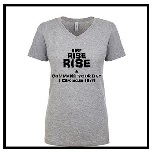 Rise, Rise, Rise T-Shirt Women's (V-Neck