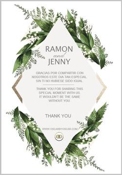 Jenny & Ramon Thank you Card2