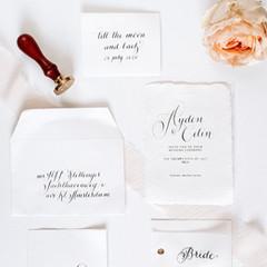 Envelope, personalised wax seal, invitation