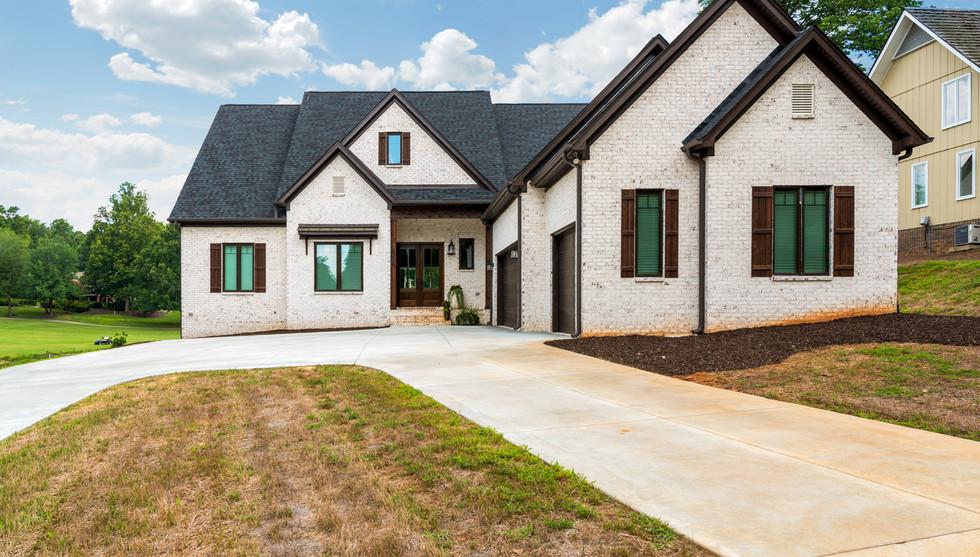 Modern White Brick Farmhouse