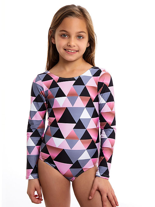 Jamaica pink long sleeves one piece