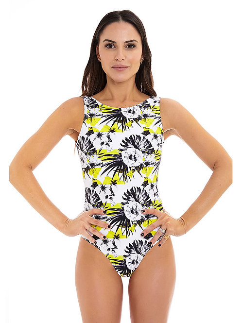 Lemon short sleeve one piece