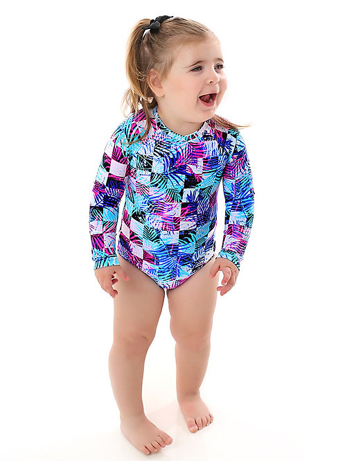 Mini Lagoon long sleeves one piece