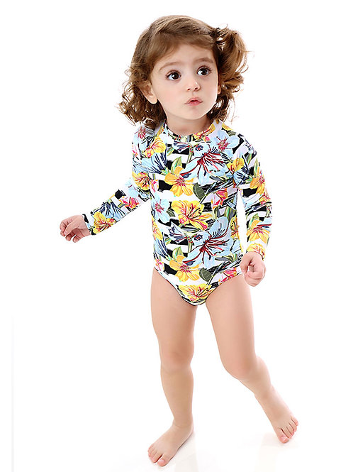 Mini Sunrise long sleeves one piece