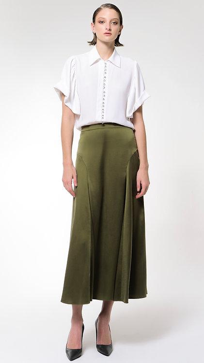 Kotys: Long Silk Skirt