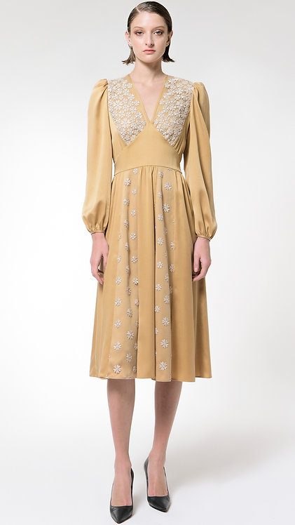 Achelois: Silk and Lace Dress