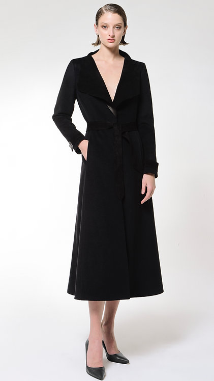 Cybele : Wool & Leather long Coat