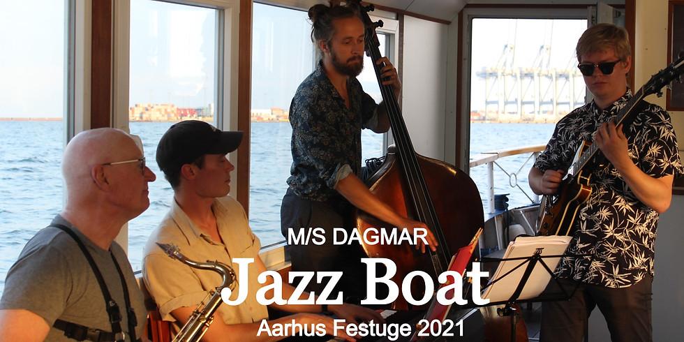 Jazz Boat By Night - Jens Klüver, Torben Bjørnskov og Esben Tjalve - M/S DAGMAR Aarhus Festuge 2021