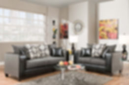 4120-03 Object Charcoal Sofa/Love
