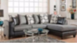 4124-03 Object Charcoal Sectional