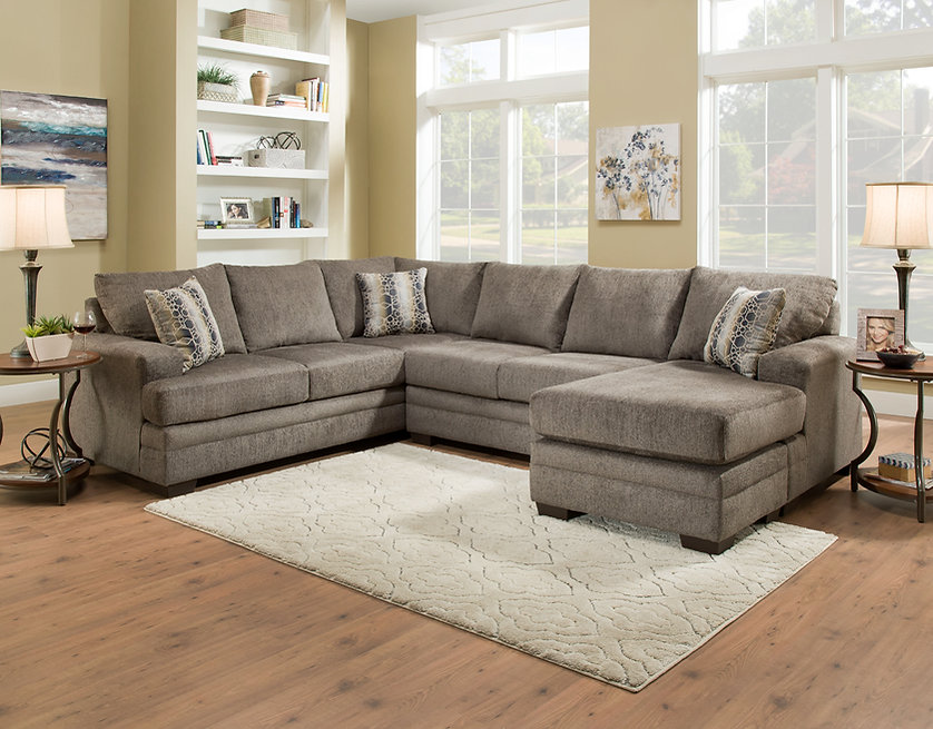 2750-03 Cornell Pewter Sectional