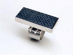 RStramitz Ring AG925 Carbonfibre 1999.jp