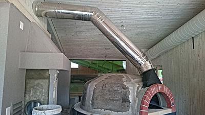 tubage cheminée Valais four à Pizza Sion