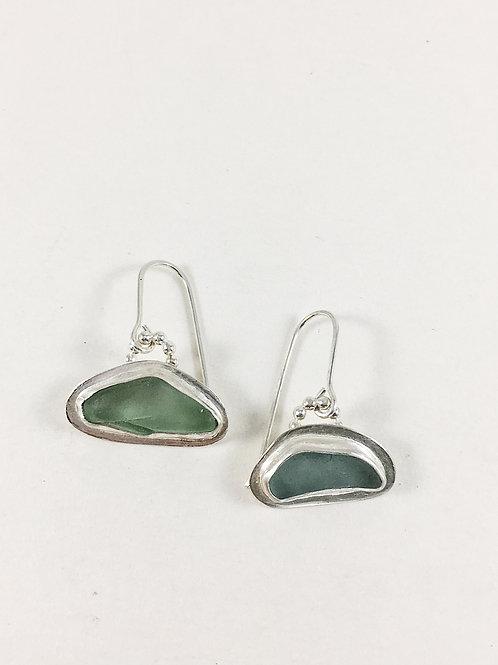 light aqua sea glass earrings, sea glass jewelry, sea glass earrings, sea glass jewellery, beach wedding jewelry