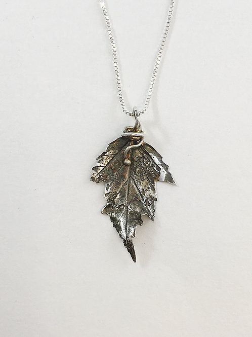 leaf pendant, botanical jewelry, botanical pendant, nature jewelry, leaf jewelry