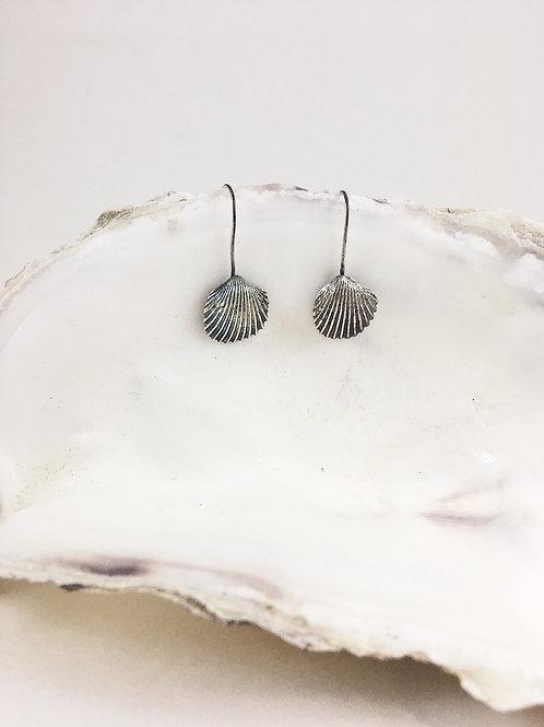 silver shell earrings, sea jewelry, handmade silver jewelry, mermaid jewelry, mermaid jewellery, ocean jewelry, shell earring