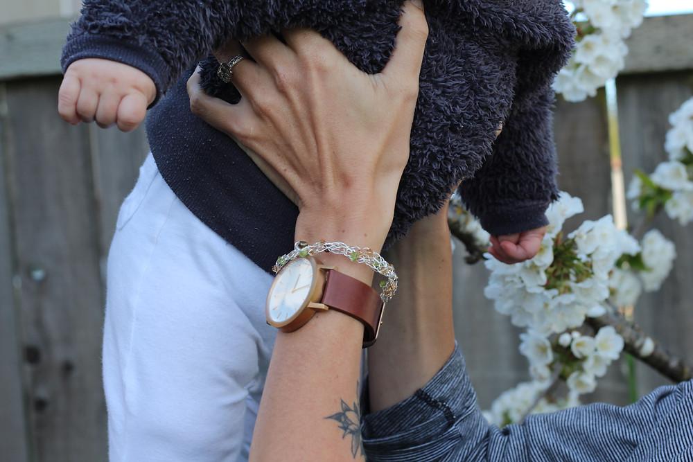 Sterling silver bracelet and The Horse watch