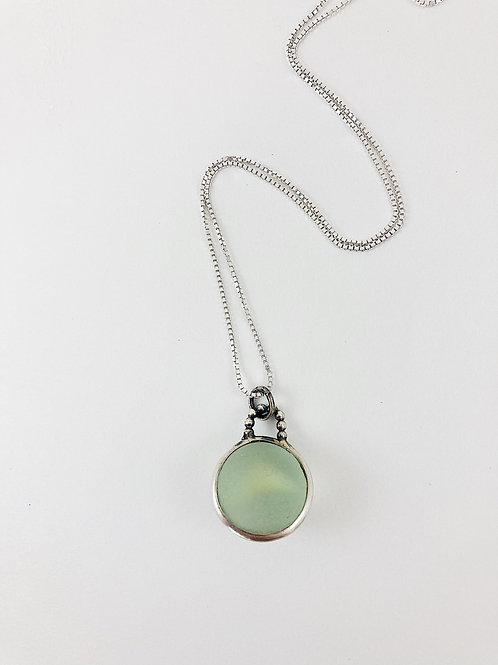 sea foam green sea marble pendant, sea glass necklace, sea glass jewelry, sea glass jewellery,artisan jewelry
