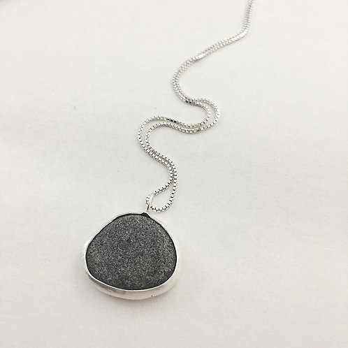 natural jewelry, natural jewellery, pebble jewelry, pebble necklace, sterling silver jewelry, handmade jewelry