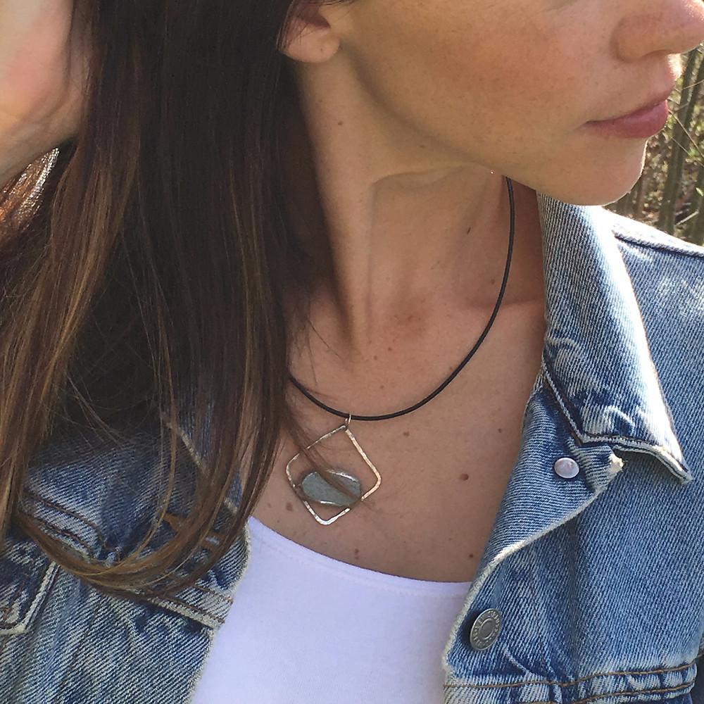 pebble pendant.