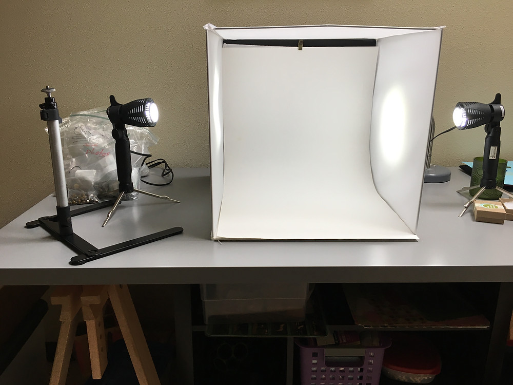 light box and photography station