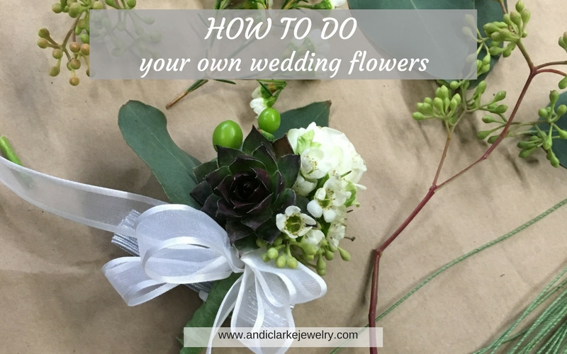 DIY bridal flowers, wedding flowers, corsages