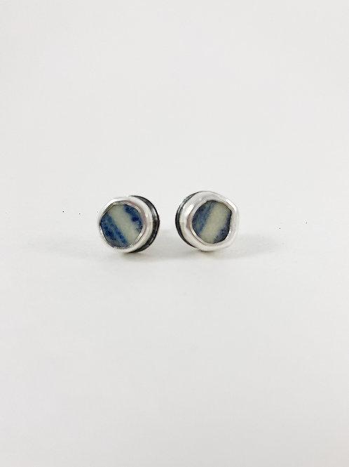 Ming china earrings, broken china jewelry, genuine Ming china, upcycled jewelry
