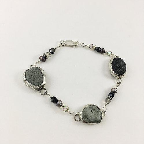 Nature jewelry, Boho bracelet, Layering bracelet, Zen jewelry, Sterling silver jewelry, Nature jewelry
