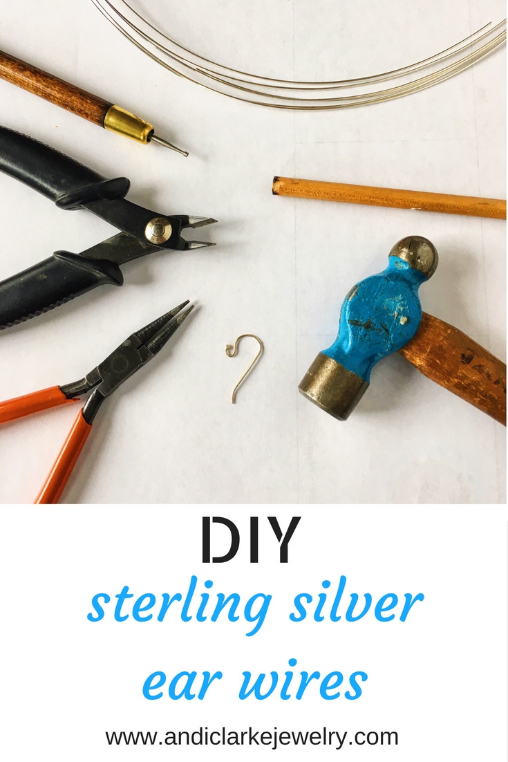 blog post on making sterlign silver ear wires silver smithing