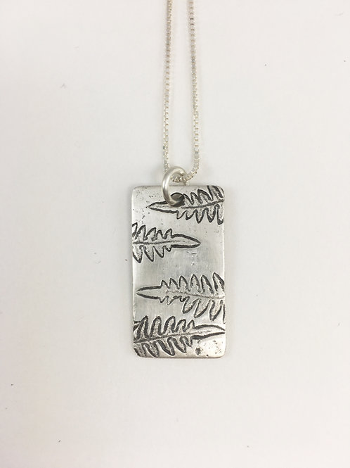 pure silver fern leaf pendant, leaf jewelry, leaf pendant, handmade silver jewelry, artisan jewelry, nature jewellery