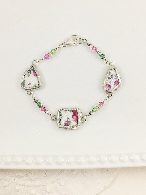 Soldered jewelry, china bracelet, china jewellery, handmade bracelet, wire wrapped jewelry, Swarovski jewelry,