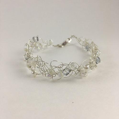 pearl bracelet pearl jewelry silver jewelry silver bracelet handmade bracelet bridesmaid jewelry