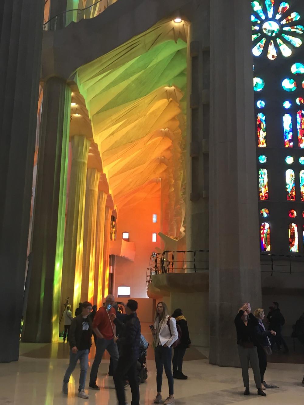 Interior of La Sagrada Familia