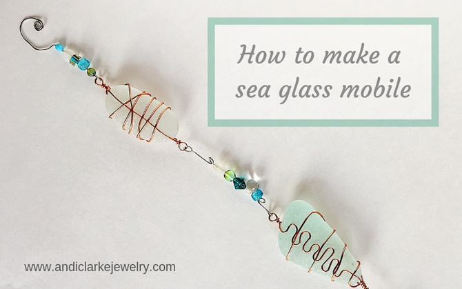 Making a sea glass mobile