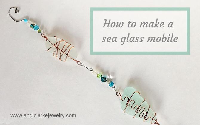 Making a sea glass mobile