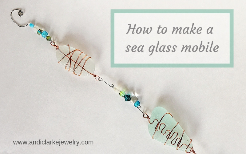 how to make a sea glass mobile