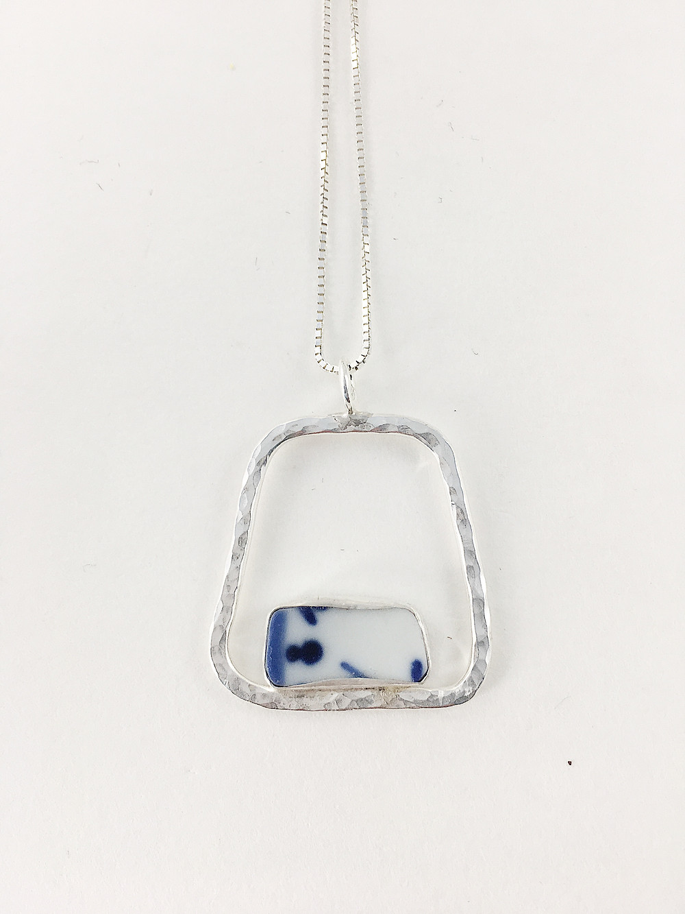 Ming China pendant geometric jewelry handmade jewelry broken china jewelry Chinese Porcelain