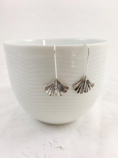 nature jewelry leaf earrings handmade silver earrings botanical jewelry silver leaf earrings