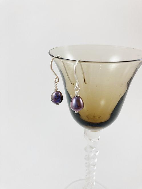 sterling and freshwater pearl drop earrings, pearl earrings, bridal jewelry, wedding jewelry, pearl jewelry, handmade earring