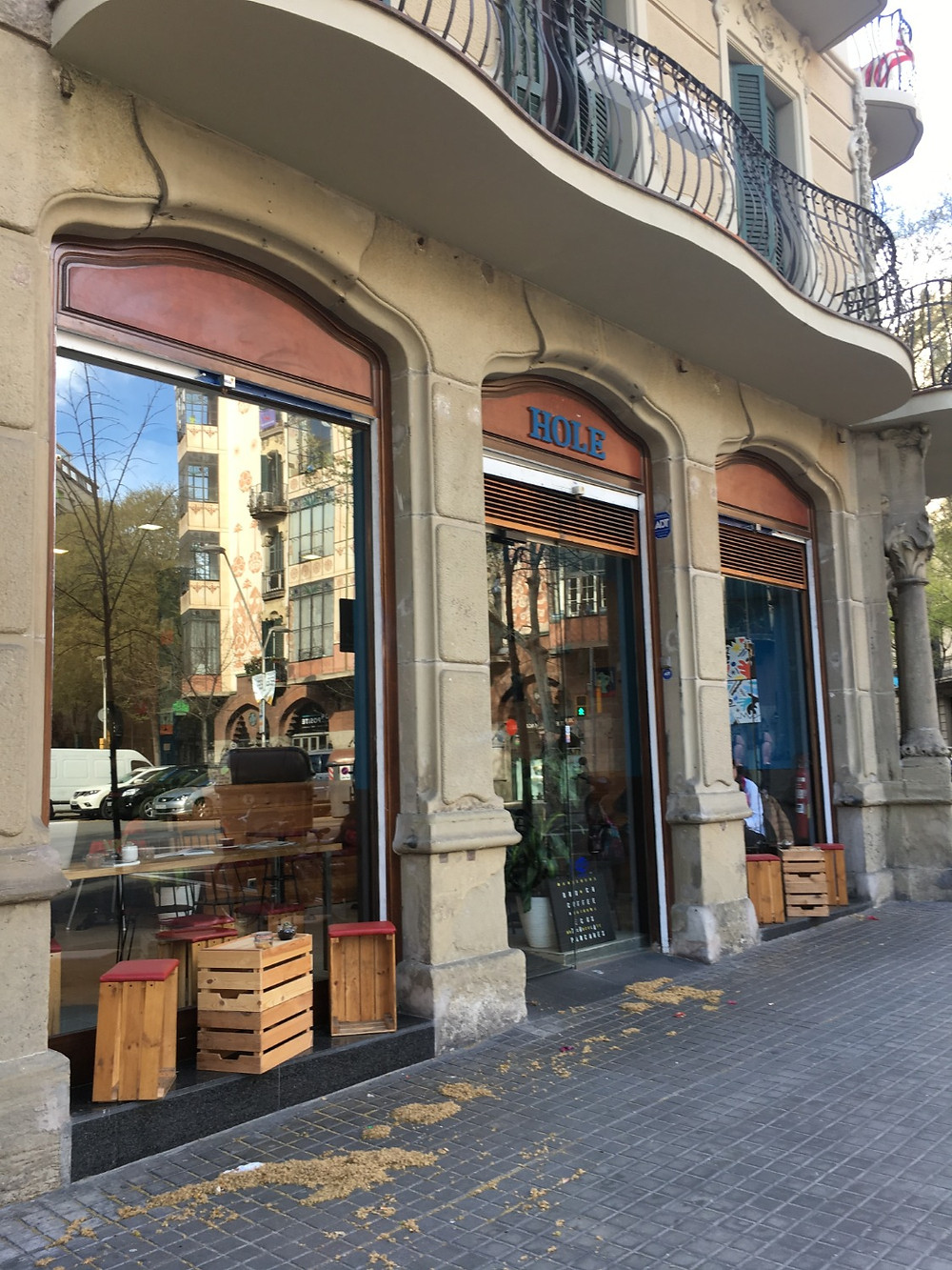 Hole cafe in Barcelona