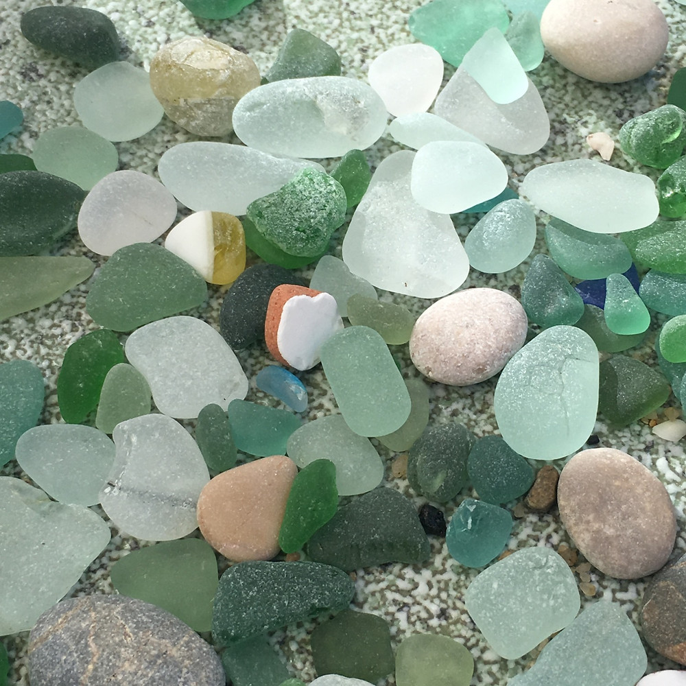 sea glass finds from Barcelona