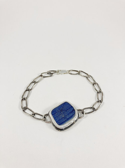 Ming china bracelet, broken china jewelry, broken china bracelet, artifact jewelry, Ming china, handmade silver jewelry,