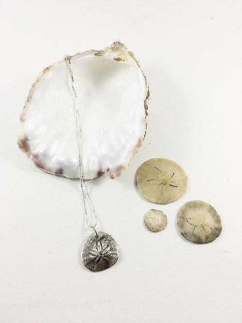 Silver Pacific Sand Dollar Pendant