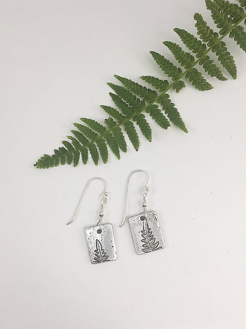 nature jewelry, nature earrings, pure silver earrings, sterling silver earrings, handmade earrings