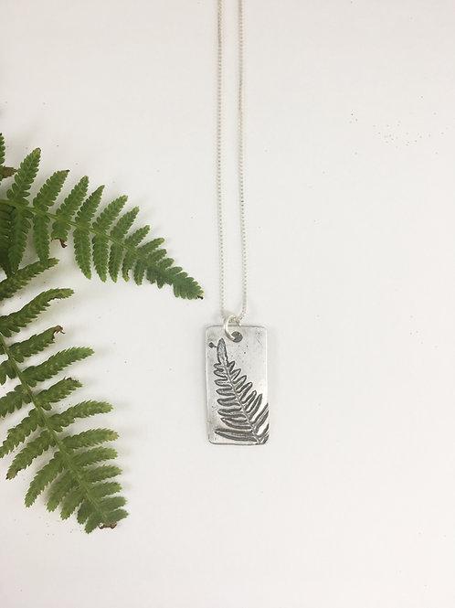 fern leaf pendant, nature jewelry, handmade silver jewelry, PMC jewelry, leaf necklace, leaf jewelry